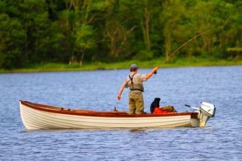 Fishing on Lough Melvin