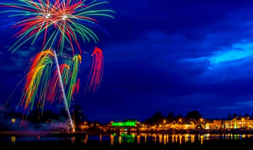 Fireworks in Carrick on Shannon