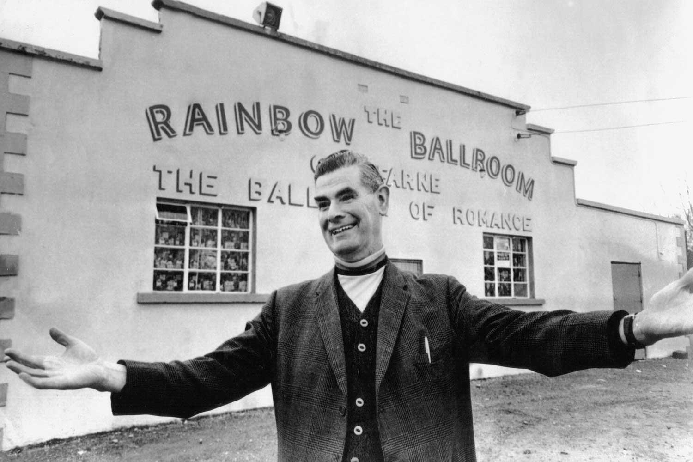 Black and white photo of Rainbow Ballroom