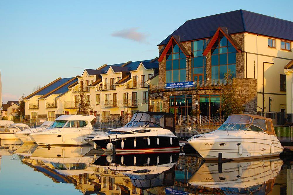 Boats moored at the Leitrim Marina Hotel