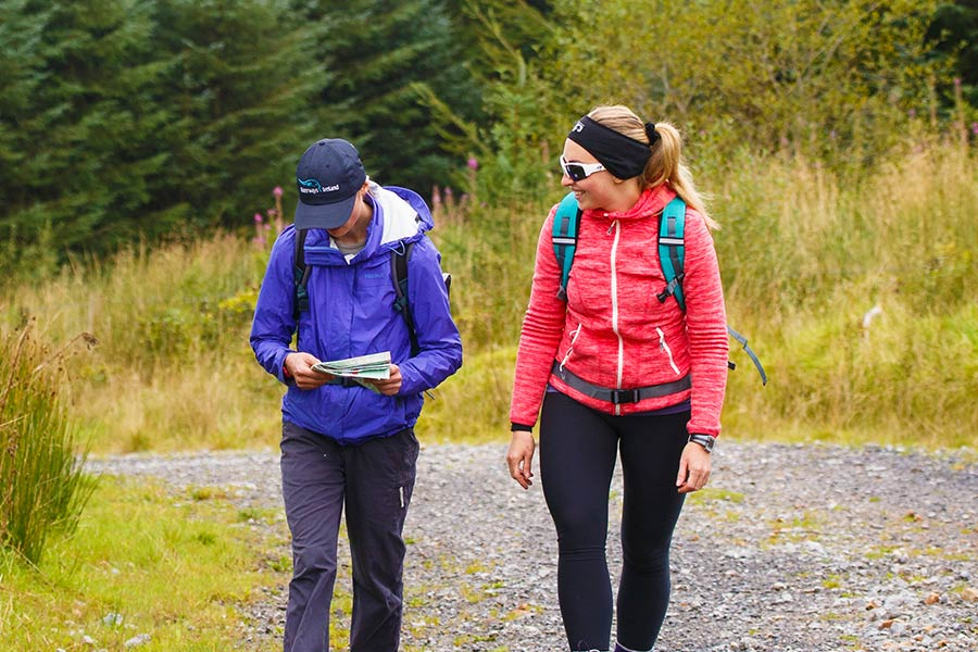 Walkers in Leitrim planning their trip