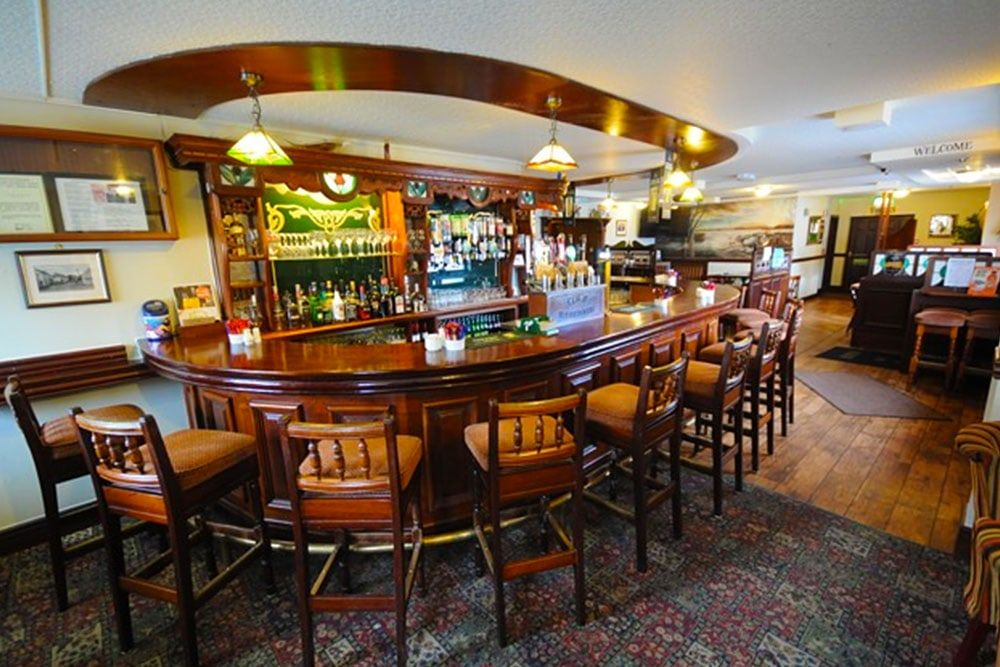 The bar at Cox's Steakhouse