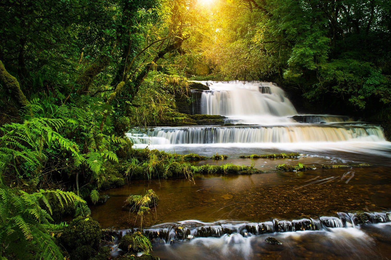 Dramatic waters at Fowleys falls